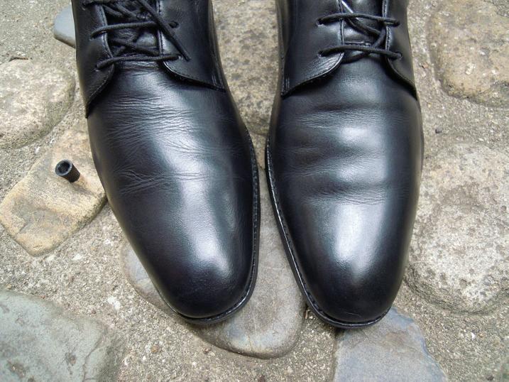 ランウォークに靴墨を塗って薄く延ばした状態