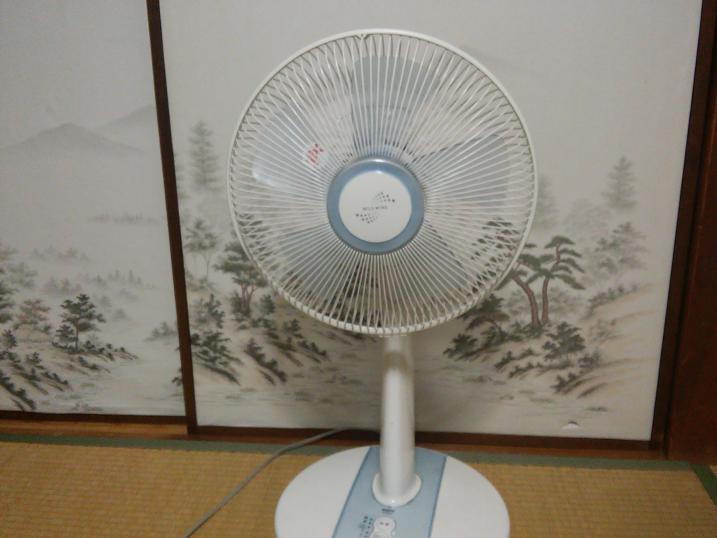 座敷の扇風機