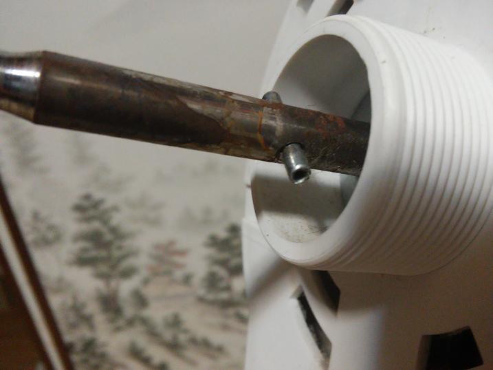 扇風機モーター軸の突起