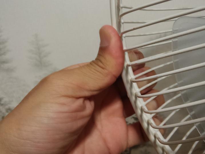 扇風機前カバーをはめていく