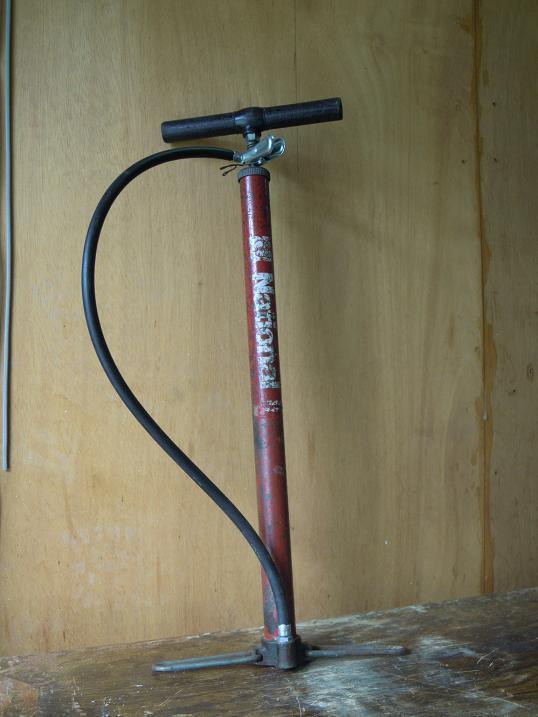 自転車空気入れ修理完了