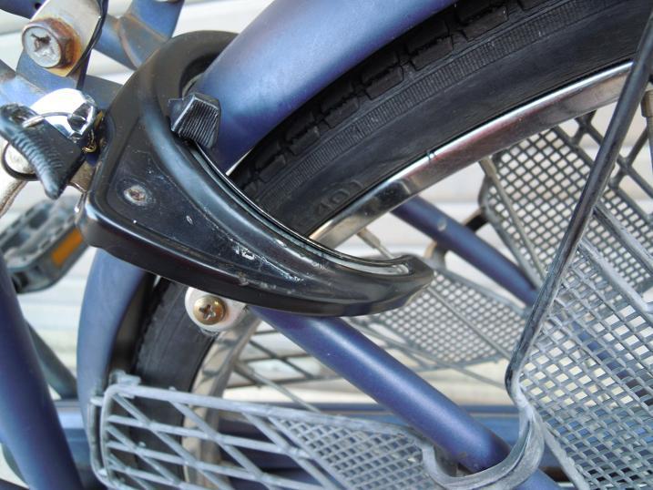 自転車リング錠が開いた