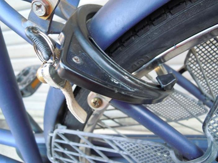 自転車リング錠カギ式